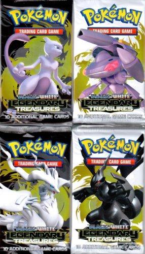 4 (Four) Packs of Pokemon Trading Card Game Black & White BW - LEGENDARY TREASURES Booster (4 Pack Lot) ()