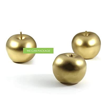 Amazon we can package artificial gold apples wedding we can package artificial gold apples wedding centerpieces event decorations junglespirit Image collections