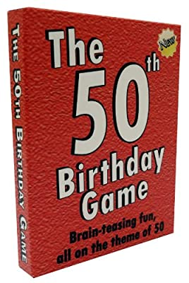 The 50th Birthday Game. Fun 50th birthday party idea, also a uniquely fun 50th birthday gift for men and for women.