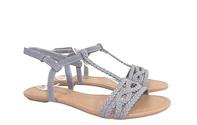 94cbf8c7b9c7 City Classified Ennis Women s Braided T-Strap Slingback Flat Sandals