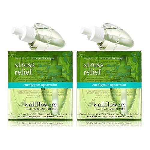 Bath and Body Works Wallflowers 4-Pack Refills (Aromatherapy Stress Relief - Eucalyptus Spearmint) by BW