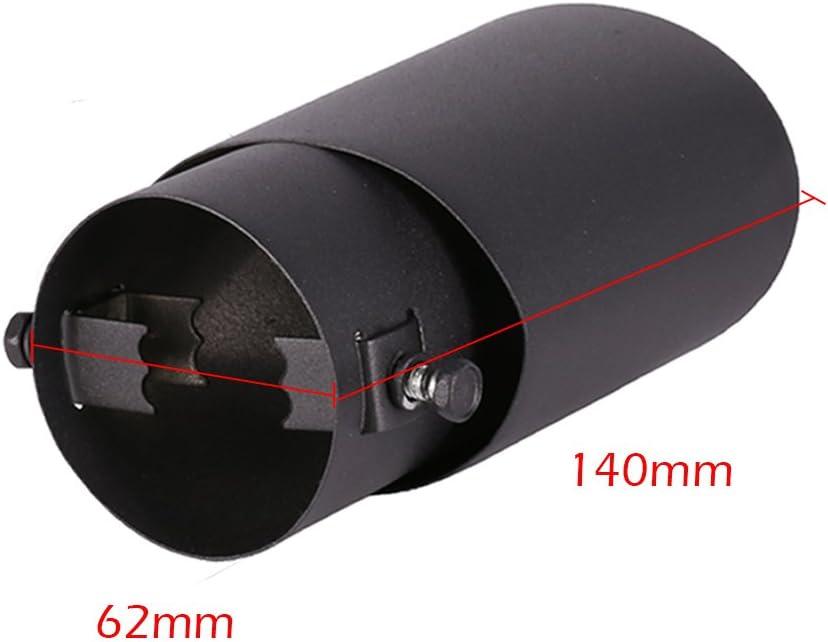 Auspuffrohr 62mm Edelstahl Blende Auspufftopf Auto End Endschalld/ämpfer Schwanz Schalld/ämpfer Universal