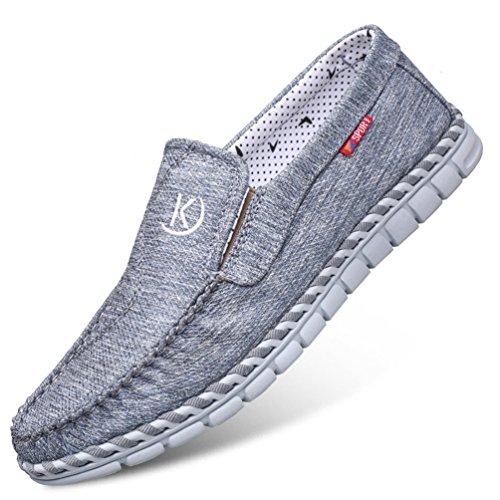 Piatte Blu Auto Pantofola Gomma Cuciture Scarpe Confortevole Mens Suola Toe Traspirante Rilassato Feidaeu in Rotonda gXW1xg6