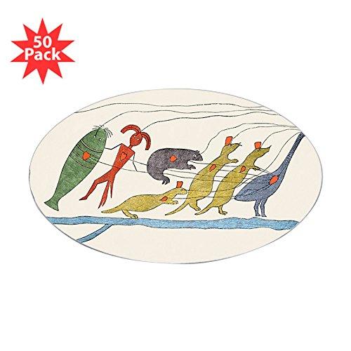 CafePress - Ojibwe Native American Petition, 1849 - Sticker (O - Sticker (Oval 50 pk)