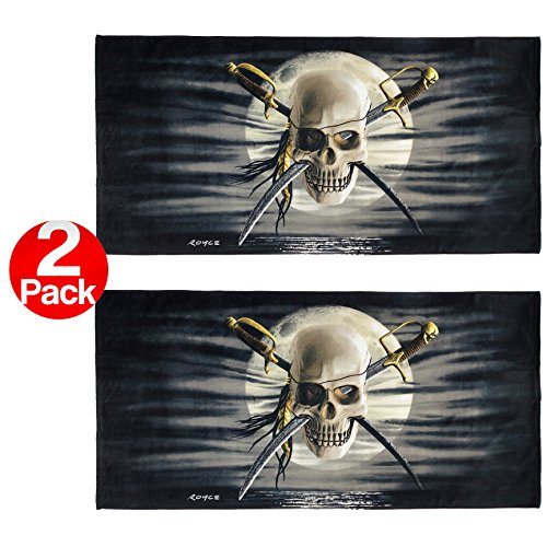 KAUFMAN - Patch Skull Printed Beach Towel (106040) - 2 Pack Set