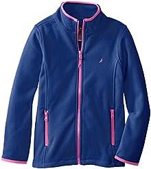Nautica Girls' Zip Fleece