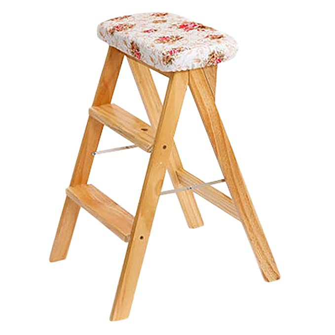 Amazon.com: TP Step Stool - Solid Wood Step Ladder 3 Step Ladder ...