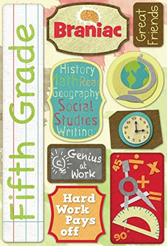 KAREN FOSTER 11525 Design Acid and Lignin Free Scrapbooking Sticker Sheet, Fifth Grade