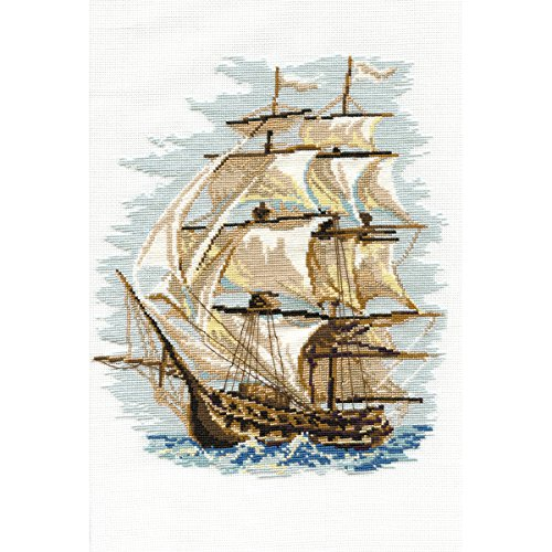 "Ship Counted Cross Stitch Kit, 11.75"" x 15.75"", 16-Count"