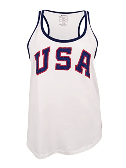 Amazon.com  Polo Ralph Lauren Women s Graphic Team USA Tank Top White XL   Clothing 648ce25fb8