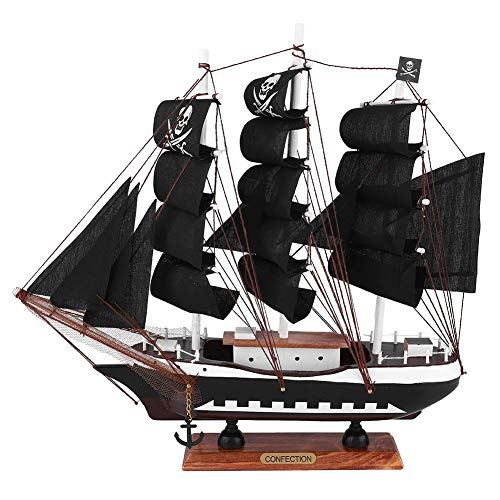 (Sailing Boat Sailboat Pirate Ship Model Craft Coastal Themed Ornament Vintage Nautical Hand Made for Kids Children Gift Party Home Decoration )