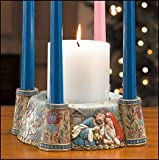 Nativity Scene Advent Candle Holder