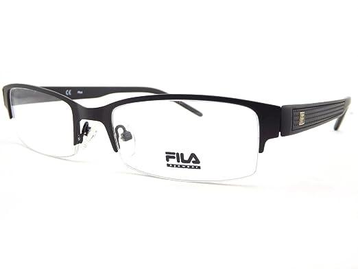 156e22a3bae Fila Mens Supra Glasses Frame Black VF9594 BLK  Amazon.co.uk  Clothing