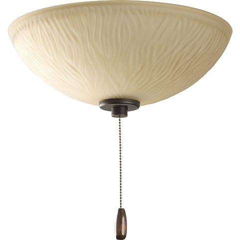 Progress lighting p2651 20 riverside bronze 3 light ceiling fan kit