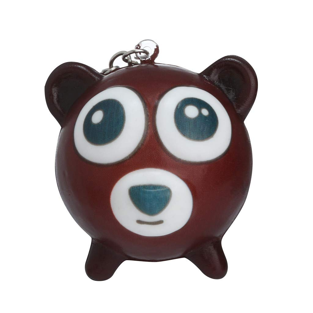 Binory Squishy Toy,Mini Cute Animal Creative School Bag/Shoulder Bags/Keychain/Phone Ornament,Slow Rising Attractive Toy,Stress Relief Kawaii Decompression Toy,Children's Day Gift(Bear)