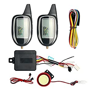 3. EASYGUARD EM208-2 LCD Display Motorcycle Alarm System with Built-in Shock Sensor DC12V