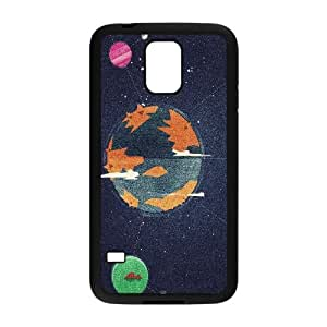 Samsung Galaxy S5 Cell Phone Case Black_Linked Planets Illustration Clouq
