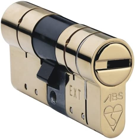 ABS Cylinder Pair with 6x Keys Brass 35mm Int 35mm Ext