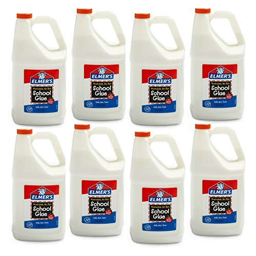 Elmer's School Glue Jar, Washable, 1 gal Capacity (8 Pack) by Elmer's