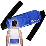 Back Gel Ice Pack Wrap: Pain Relief Heat Pad for Hot & Cold Therapy on Large Body Parts (Upper & Lower Back, Torso, Shoulder, Lumbar, Hip, and Waist) | Adjustable, Flexible, Microwaveable & Reusable