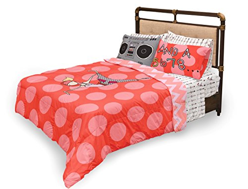 Where The Polka Dots Roam Queen Size Pink Ballerina Sheets Set for Girls Bedding - Double Brushed Ultra Microfiber Luxury Bedding Set By by Where The Polka Dots Roam (Image #5)