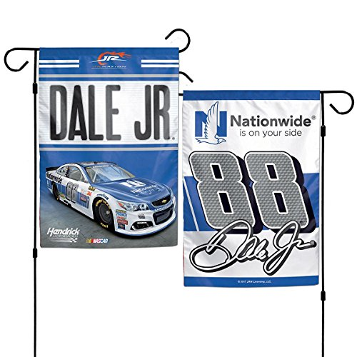 Nascar Garden Flag - Nascar Dale Earnhardt Jr #88 Nationwide Hendrick 12 x 18 2-Sided Garden Flag