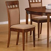 Coaster Home Furnishings 101773 Casual Dining Chair, Walnut, Set of 2