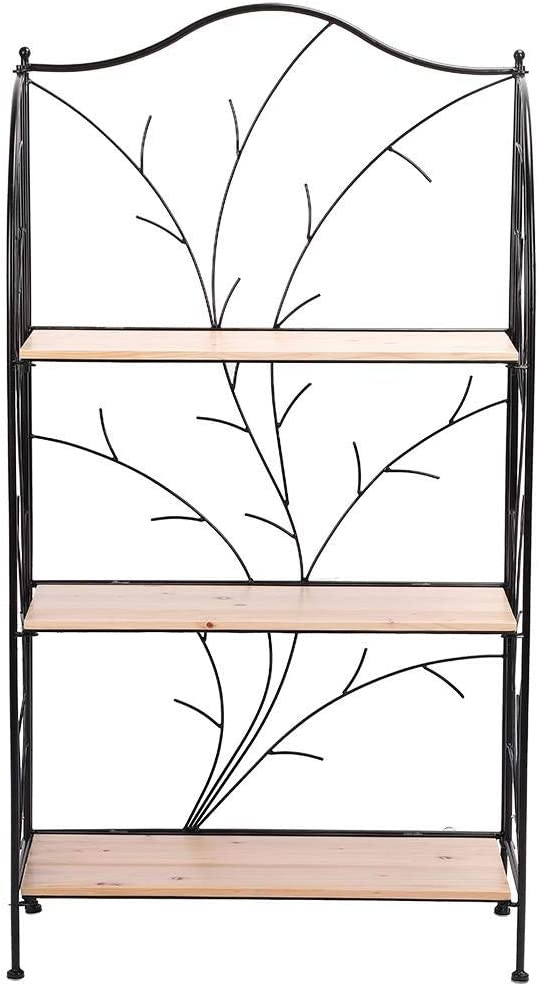 /étag/ère /à Fleurs en Fer forg/é 3 Niveaux Support de Plante Support de Pot de Fleur pour Jardin Balcon terrasse 63 x 30,5 x 118 cm