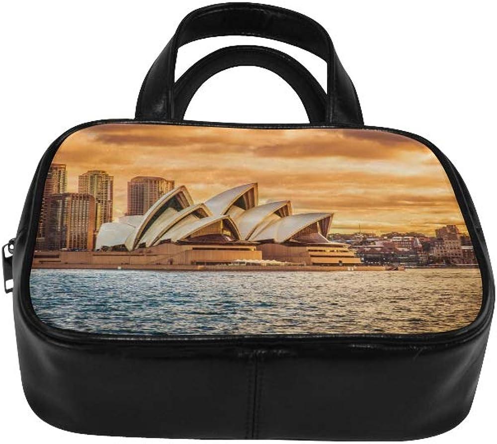 Girls Handbag Beautiful Sydney Opera House Womans Carrying Bag Women Tote Bags Pu Leather Top Handle Satchel Color Handbags