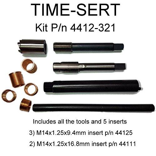 - Time-Sert M14x1.25 spark plug thread repair kit p/n 4412-321