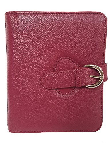"Leather ""Ava"" Binder Compact – Plum"