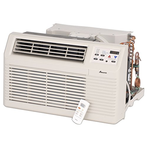 Amana PBC092G00CB 9 200 BTU Through-the-Wall Air Conditioner with Electronic Touchpad Remote Control with LCD Display 2-Fan Speeds Energy Saver Option 4-Way Adjustable Airflow and Slide-out by Amana