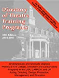 Directory of Theatre Training Programs, , 0933919611