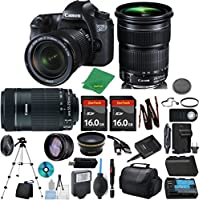 Canon EOS 6D Camera + 24-105mm STM + 55-250mm STM + 2pcs 16GB Memory + Case + Reader + Tripod + ZeeTech Starter Set + Wide Angle + Telephoto + Flash + Battery + Charger + Filter