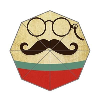 Cute Moustache Décor Gris clair Parapluie