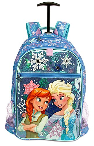Amazon.com: Disney Frozen Anna & Elsa Snowflakes Backpack [Rolling ...