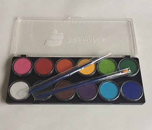 Fazmataz Essential 12 Color Palette - Professional Face Paint