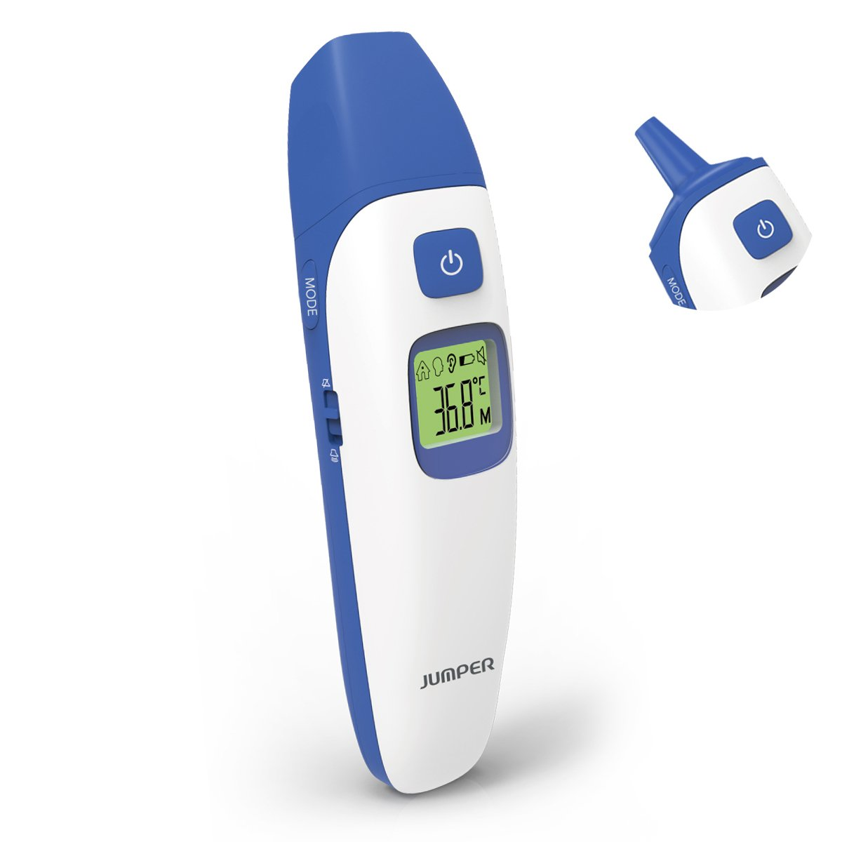 Forehead&Ear Thermometer, Fochea Infrared Digital Medical Thermometer with 1 Sec Accurate Reading ,20 Readings Memory Recall and Fever Alert for Baby,Infant,Toddler and Adults,FDA and CE Approved