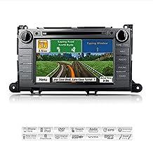 "AIMTOM AMN-1906-MB 2011-2014 Toyota Sienna In-dash GPS Navigation Stereo FM AM Radio Bluetooth DVD CD Deck 8"" Touch Screen Head Unit AV Receiver USB SD Multimedia Player w/ Copyrighted iGo Primo Maps"