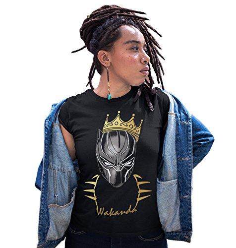 - iApparel Wakanda King Women Black Shirt (Medium)
