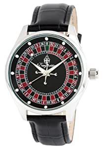 Burgmeister Roulette BM512-122 - Reloj de caballero de cuarzo, correa de piel color negro