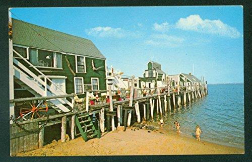 Captain Jack's Wharf Provincetown Cape Cod Massachusetts MA Vintage Postcard Provincetown Cape Cod