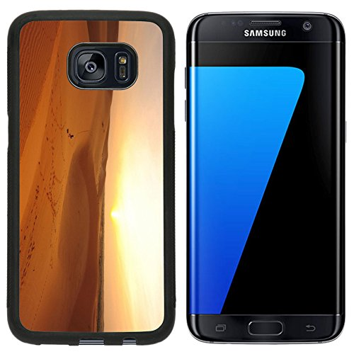 Luxlady Premium Samsung Galaxy S7 Edge Aluminum Backplate Bumper Snap Case IMAGE ID: 23207158 Sand Dunes at - Desert T Ridge Mobile