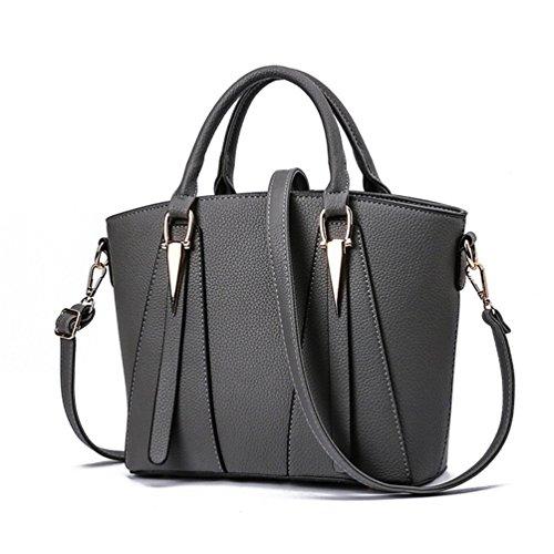Big Body Elegant Simple Style Auspicious Size dark Sexy Handbag V for Women beginning Cross grey HxAqzAn5Iw