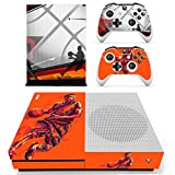 L'Amazo Best Sport American football basketball baseball style XBOX ONE SLIM Skin Designer Game Console System p 2 Controller Decal Vinyl Protective Covers Stickers for XBOX ONE S (Future)