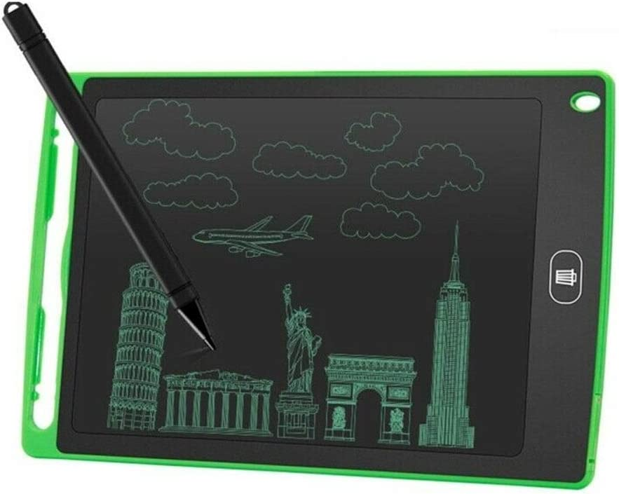 Boon Earthie 12 Green Magic Erasable LDC Writing Tablet Fun Toy Graffiti Drawing Black Board Notepad Kid Adult Gift Portable eWriting Electronic for Home School Event Presentation Office Work 1pcs