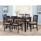 Modern 6-Pack Dining Chair Set, Rich Espresso Finish, 6 Chairs, Comfortable, Padded Micro-Fiber Seat Cushions, Chair Dimensions: 17.75''W x 20''D x 35.75''H