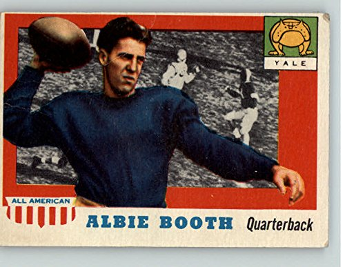 1955 Topps #86 Albie Booth Yale GD-VG Ink Back 352458 Kit Young Cards