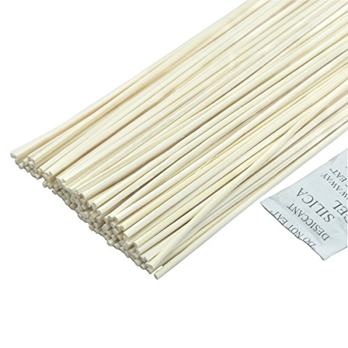 "Simoutal 100pcs 12"" Reed Diffuser Sticks for DIY Essential Oil Aroma Diffuser Sets"