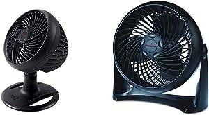 Honeywell Turbo Force Oscillating Table Fan, HT-906,Black,Medium (Oscillating) & HT-900 TurboForce Air Circulator Fan Black,Small